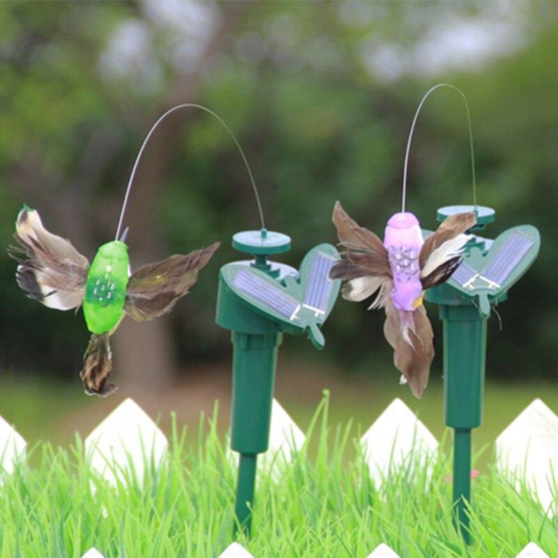 Solar Hummingbird Power Vibration Dancing Fly Fluttering Birds For Garden Yard Decorative Stake Flying Fluttering Decoration toy