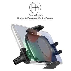 Image 3 - 10ワットチーワイヤレス車の充電器電話ホルダー自動クランプ急速充電赤外線センサーiphone x xs xr最大8サムスンS8 S9 S10