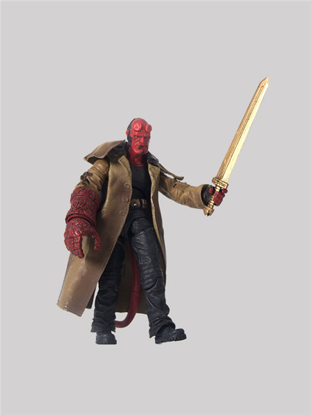 Diffuse Dynamic Square Anime Hellboy HELLBOY 6-Inch 2 s B- Mobile Figurine Boxed Garage Kit Model