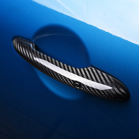 2pcs Carbon Fiber Handle Protection Cover Exterior Decoration Accessories For BMW MINI Cooper S F54 F55 F56 F57 F60 Car Styling