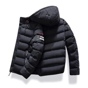 Image 4 - 2019 브랜드 패션 가을 겨울 자켓 파카 남성 여성 코트 후드 웜 남성 겨울 코트 캐주얼 피트 오버 코트 4xl 파커 남성