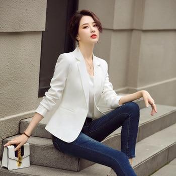 New Autumn Winter Women Professional Warm Suit Single Button Notched Office Lady Womens Blazers Long Sleeve Plus Size 4xl Black 1