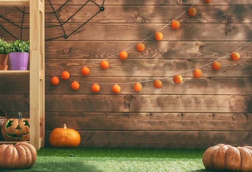 Halloween Achtergrond.Halloween Background Children Portrait Photo Studio Backdrops Wooden Board Wall Green Grass Floor Fotografie Achtergrond Background Aliexpress