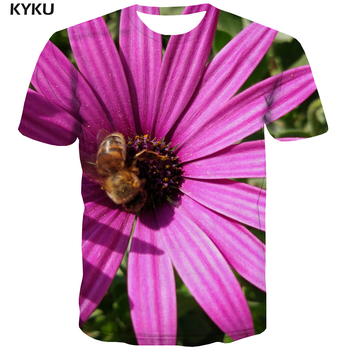 3d T-shirt Bee T hemd Männer Blume Anime Kleidung Tier T-shirt Gedruckt Freizeit Lustige T shirts Herren Kleidung T shirts coolen Männlichen