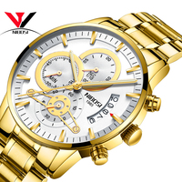 NIBOSI мужские s часы Топ люксовый бренд мужские золотые часы мужские Relogio Masculino военные армейские Аналоговые кварцевые наручные часы Montre Homme