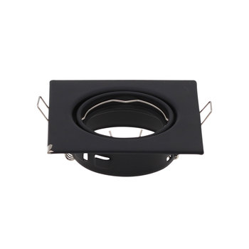 2 sztuk kwadratowy metalowy czarny wpuszczane LED sufitowa lekka rama MR16 GU10 oprawa oprawa Downlight GU10 światło punktowe montaż F tanie i dobre opinie JSEX CN (pochodzenie) ROHS 0-5 w 1387A-B 45 ° 90-260 v Foyer Pokrętło przełącznika iron 1 sztuk Black Żarówki halogenowe