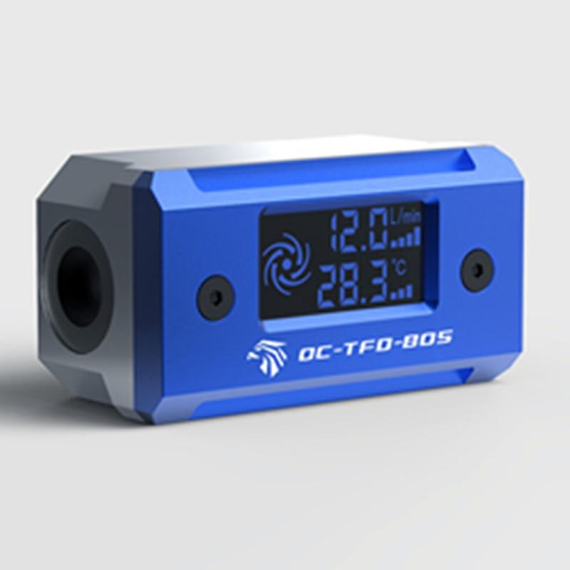 Ococoo cor digital fluxo termômetro sistema de