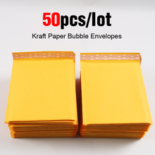 50pcs/lot Kraft Bubble Mailer Poly Mailer Mailing Bags Shipping Envelopes with Bubble Shipping Packaging  Bubble Mailers Padded пакет для почтовых отправлений 100 x 5 9x7 150x180mm kraft bubble mailers 009