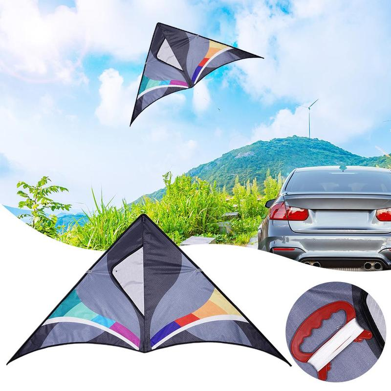 New Triangle Kite Outdoor Fun Sports Nylon Triangle Kite With Kandle And Line Flying Children Outdoor Fun Toy Hard-wing Kite