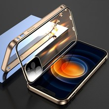 Double Sided Duckle For iPhone 12 11 Pro Max Mini XR XS X Glases Case Shockproof Magnetic Transparen Full Lens Protection Cover