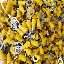 цена на RV5.5-8 500PCS Yellow Ring Thickness 0.7mm Wiring range 4-6 square Insulated Wire Connector Electrical Crimp Terminal Cable Wire