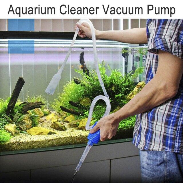 Aquarium Fish Tank Vacuum Gravel Water Filter Cleaner Manual Cleaner Pump Safe Vacuum Pump Aquatic Pet Supplies Cleaning Tools 1