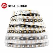 WS2815 DC12V WS2812B WS2813 RGB LED şerit ışık ayrı ayrı adreslenebilir LED ışıkları çift sinyal 1m 5m 30 60 144 LEDs IP30 65 67