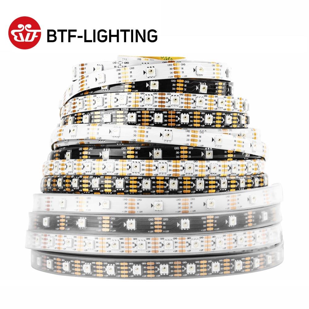 Ws2815 dc12v (ws2812b/ws2813) rgb led pixels luz de tira individualmente endereçável led duplo-sinal 1m/5m 30/60/144 pixels/leds/m