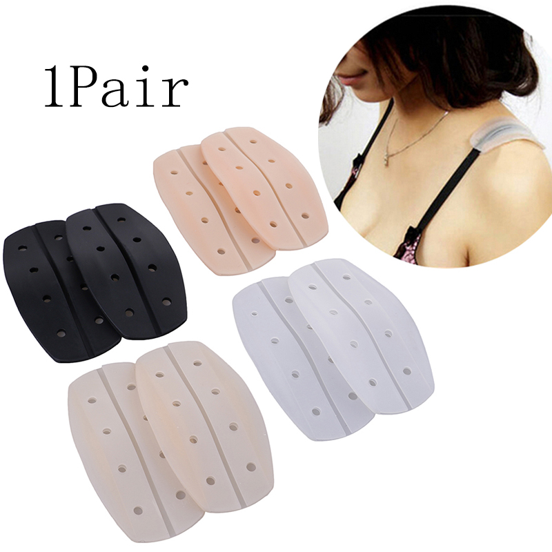 1 Pair Women Silicone Bra Strap Decompression Anti-Slip Shoulder Pads Underwear Holder Shoulder Pads Accessories Shoulder Pad