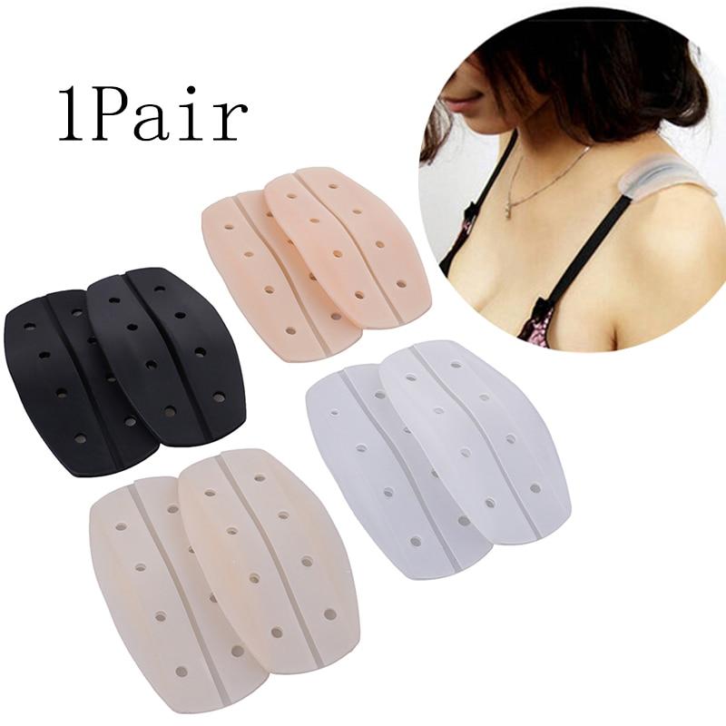 1 Pair Women Silicone Bra Strap Decompression Anti-Slip Shoulder Pads Underwear Holder Shoulder Pads Accessories Shoulder Pad