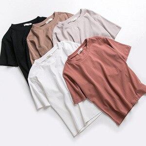 Новые футболки для женщин 2020 Vogue винтажные футболки из хлопка для женщин с круглым вырезом и коротким рукавом лучшие друзья леди девушка Заб...