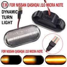 2x dynamiczne światła obrysowe LED błotnik światła sekwencyjne lampka migacza światło dla Nissan Tiida C11 uwaga E11 NE11 Micra K12 NP300 Navara