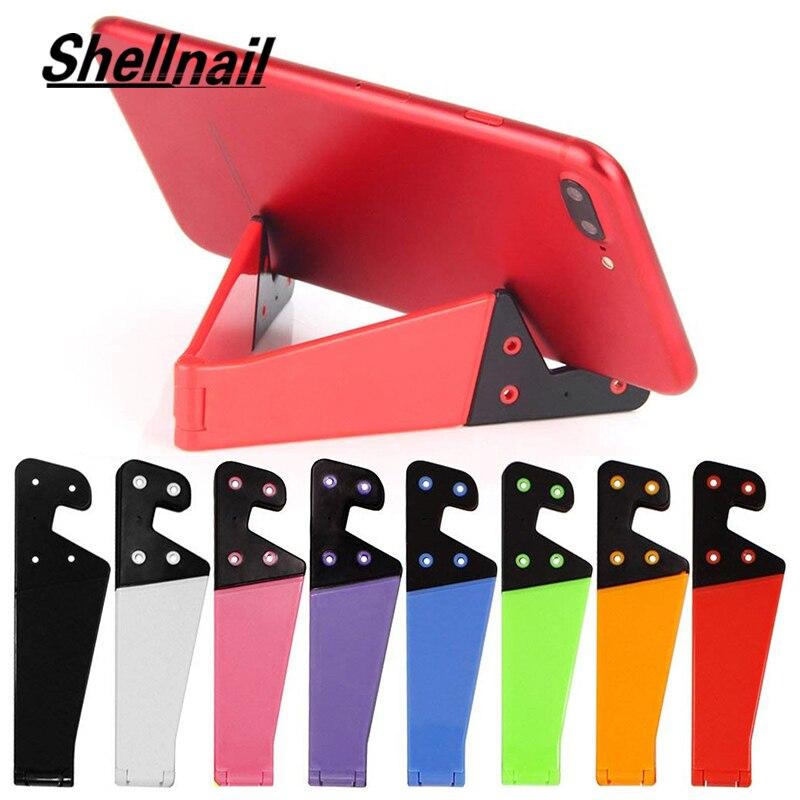 SHELLNAIL Настольный держатель для телефона Складная подставка для мобильного телефона для iPhone X Samsung планшета Регулируемая подставка для мобил...