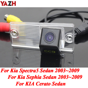 YAZH HD CCD Car Backup Camera Rear View Wireless GPS Parking Camera Monitor For KIA Cerato Sephia Sephia5 Sedan 2003 - 2009 image