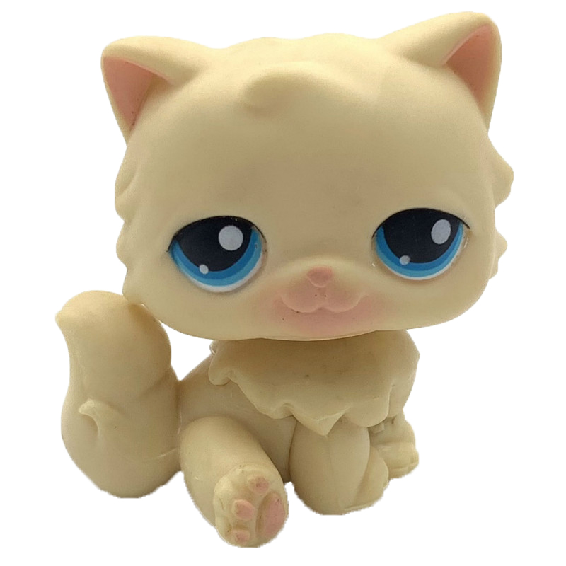 Pet Shop Toys Real Rare  PERSIAN Cat #CHAT PERSAN Yellow Kitty Old Original Toy Free Shipping