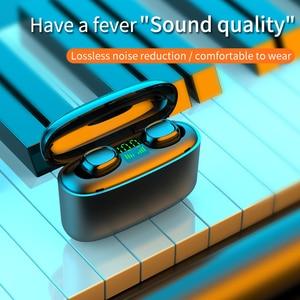 Image 2 - 9Dไร้สายหูฟังกันน้ำLedดิจิตอลจอแสดงผลหูฟังบลูทูธTouch Controlลดเสียงรบกวนกีฬาชุดหูฟังสำหรับโทรศัพท์