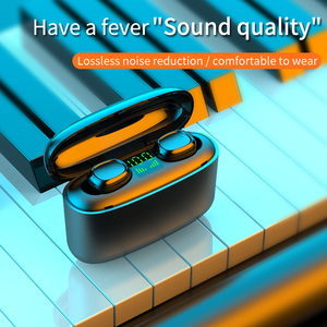 Image 2 - 9D auriculares inalámbricos con Bluetooth y pantalla Digital Led, auriculares deportivos con Control táctil y reducción de ruido para teléfono