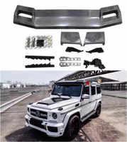 W463 ABS Carbon Fiber Car Front Dach Flügel Stamm Lip Spoiler Mit Lampe Für Benz G-CLASS W463 G500 G550 G55 g63 G65 2008-2018