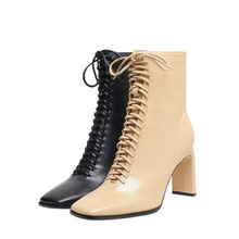 Boots Women Ankle Brand Shoes Square Heels Sexy 2020 Autumn