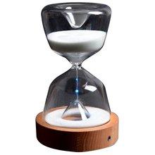 Стекло час с подсветкой и таймером светодиодный песок ночник