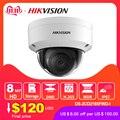 Hikvision оригинальная ip-камера 8MP ИК Фиксированная купольная DS-2CD2185FWD-I сетевая камера POE H.265 обновляемая CCTV безопасность H.265 IP67