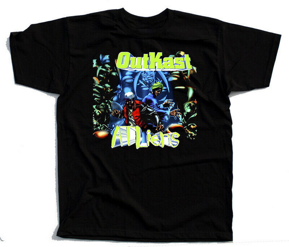 OutKast – ATLiens, Album Cover, 1996, T-SHIRT DTG (BLACK) S-5XL Cotton Summer Plus Size Tee Shirt image