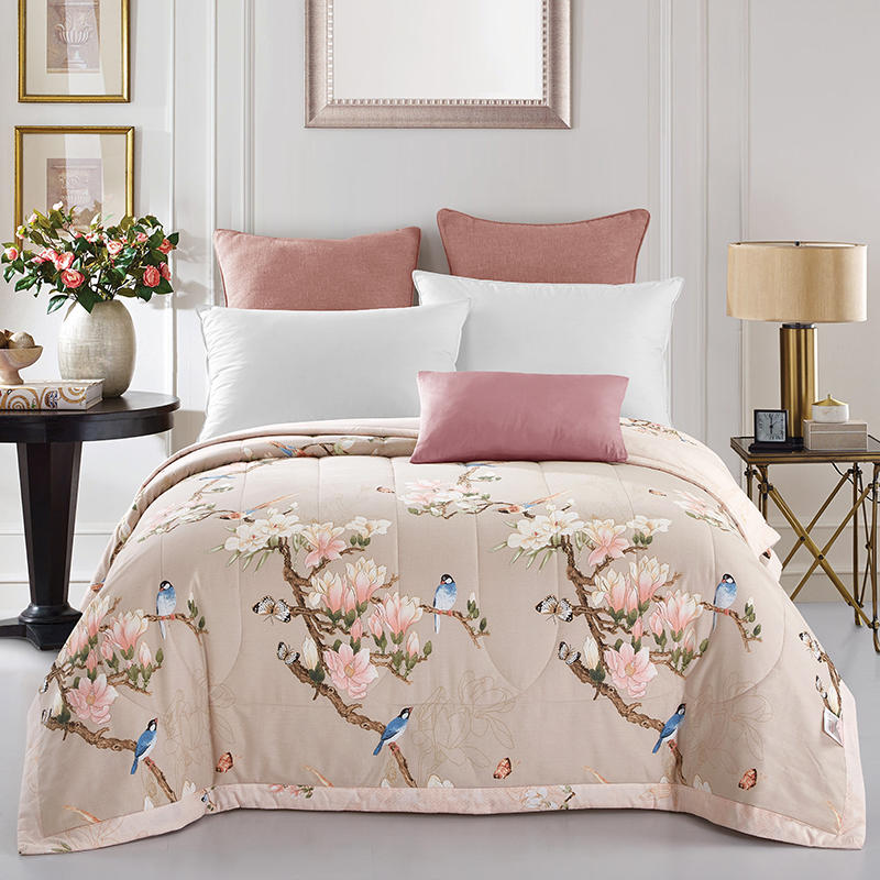 100 cotton beautiful birds quilted bedspreads throws single double size 1pc for spring summer autumn