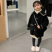 Girl's coat Japanese college cotton thick cashmere coat top 2020 winter  fall clothes for kids