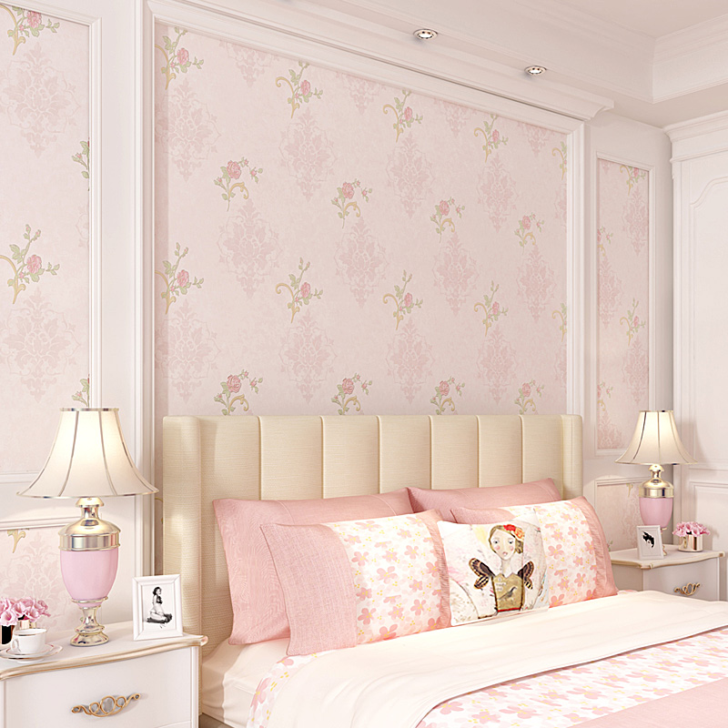 High quality Rural floral wallpaper warm bedroom living room American beauty salon club European TV background wall paper home