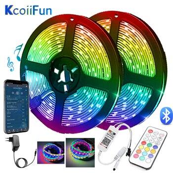 Color de sueño App Bluetooth Control sincronización de música tira de luces LED RGBIC cuerda luz 5M 10m para dormitorio, cocina, fiesta en casa Decoración