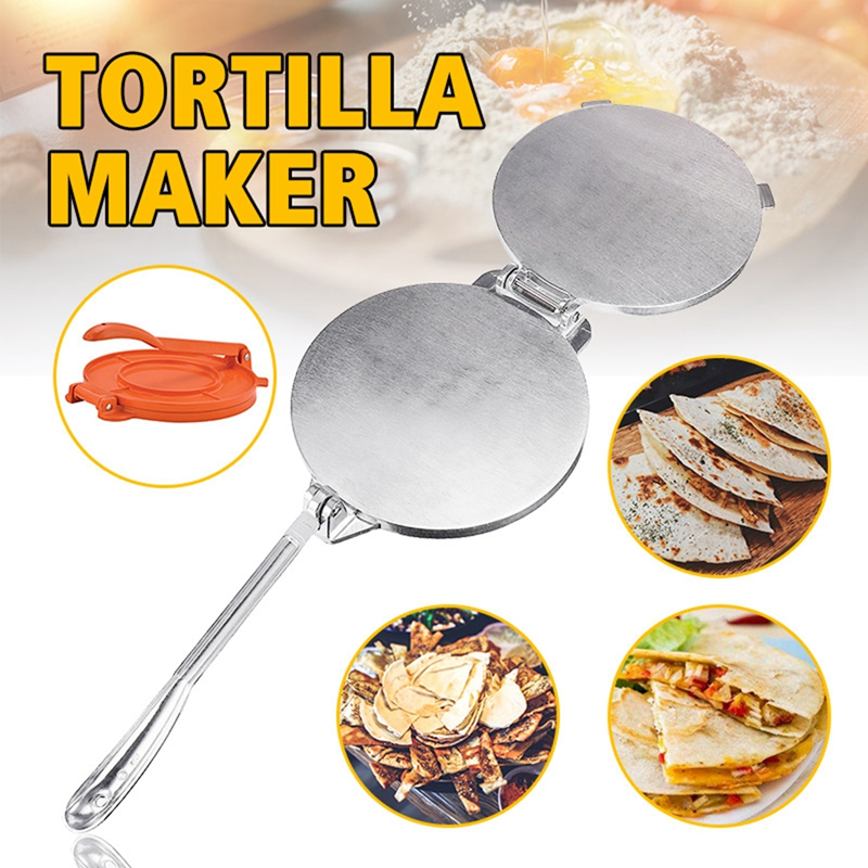 2 Color Tortilla Maker Cake Press Pot Tool Dough Pressure Aluminum Alloy Tortilla Pie Machine Press Home Appliance Part Tools image