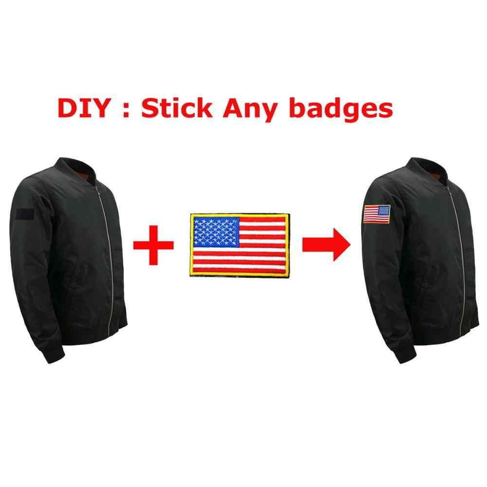 Mens מפציץ מעיל צבא צבאי להאריך ימים יותר 2019 Zip עבה מעיל אופנוע Streetwear תג מעילי גברים אירופה גודל Loose 5XL מעילים