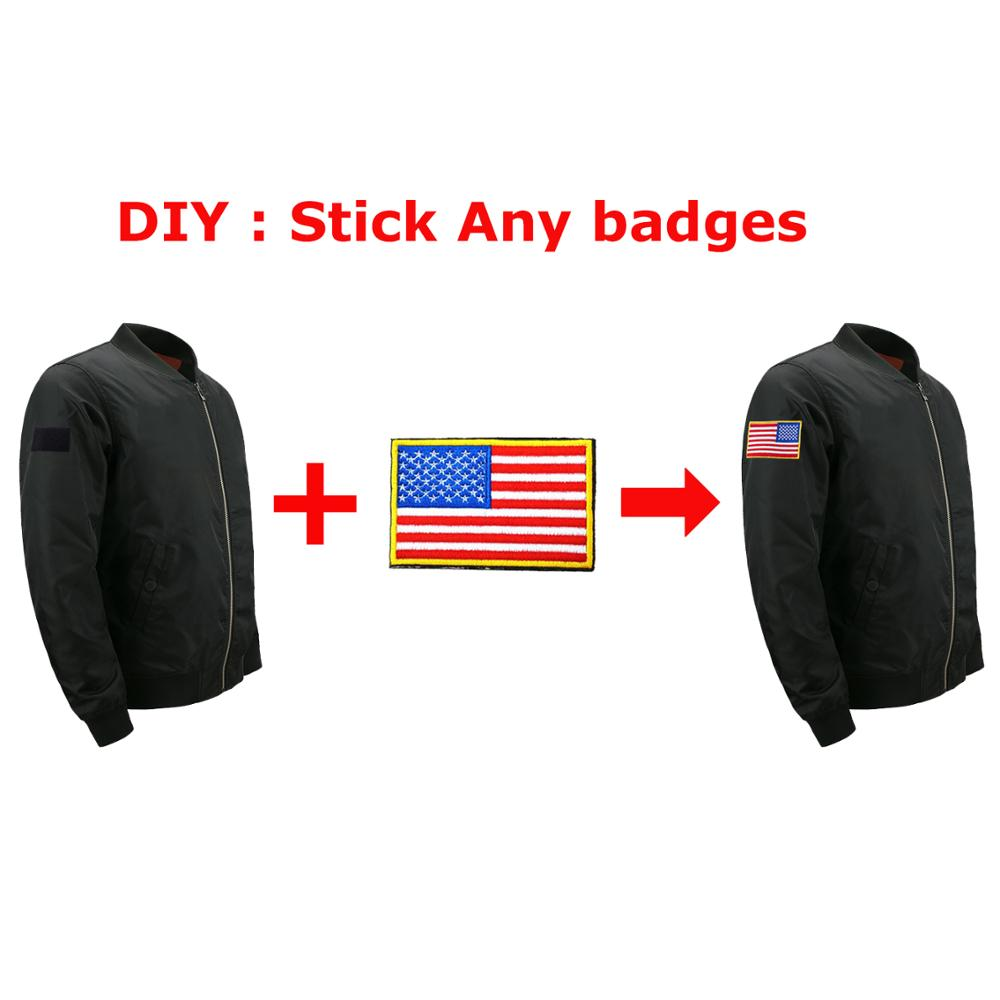 Mens Bomber Jacket Army Military Outwear 2019 Zip Thick Coat Motorcycle Streetwear Badge Jackets Men Europe Size Loose 5XL Coats in Jackets from Men 39 s Clothing