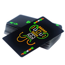 Zwarte Lichtgevende Fluorescerende Poker Kaarten Speelkaart Glow In The Dark Bar Party Ktv Night Lichtgevende Collection Speciale Poker(China)