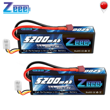 2units Zeee RC Lipo Battery 7.4V 2S 5200mAh 80C With Deans Plug RC Battery for RC Car Truck Truggy Buggy Tank Helicopter цена