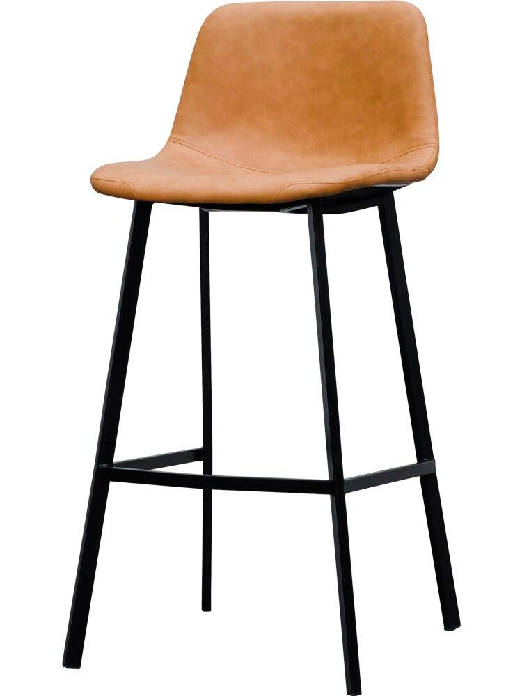 Bar Chair, Nordic Leather Bar Chair, Household High Stool, Modern Simple Bar Chair, Bar Chair, Coffee Bar Chair
