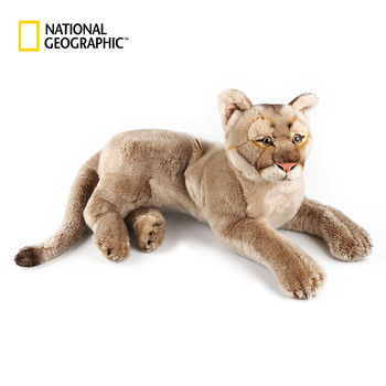 National Geographic North America 22 /10.5 Mountian Lion Plushie Lion Simulation Plush Animals Plush Toy Adult Children Gifts new simulation lion toy handicraft lifelike lion doll with a small lion in the mouth gift about 50x33cm