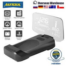 Scanner Navigation HUD Head-Up-Display AUTOOL OBD2 Bluetooth Speed-Projector Windshield