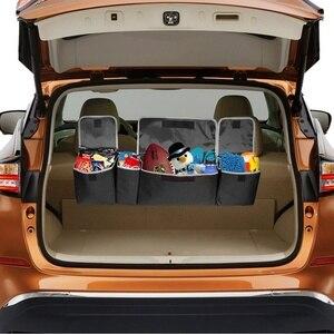 Image 2 - ออแกไนเซอร์รถTrunk Adjustable Backseat Storageกระเป๋าสุทธิความจุสูงMulti ใช้Oxfordรถยนต์ที่นั่งกลับOrganizer Universal