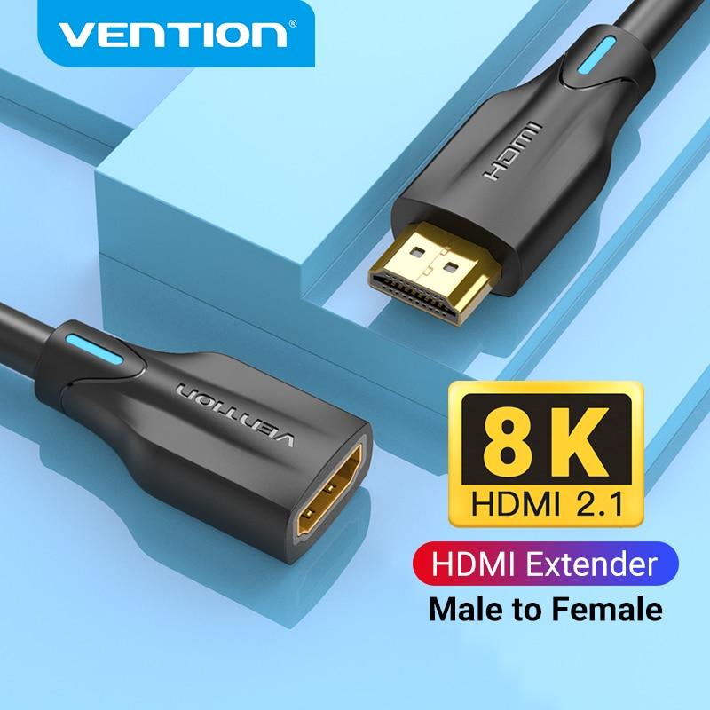 Vention HDMI 2,1 Удлинительный кабель UHD 8K/60Hz HDMI 2,1 Штекерный кабель удлинитель для PS4 TV Smart Box проектор HDMI удлинитель