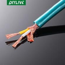 Медный кабель для звуковых сигналов, прямоугольный провод высокой чистоты, прямоугольный провод ортофон 8N, 3 м