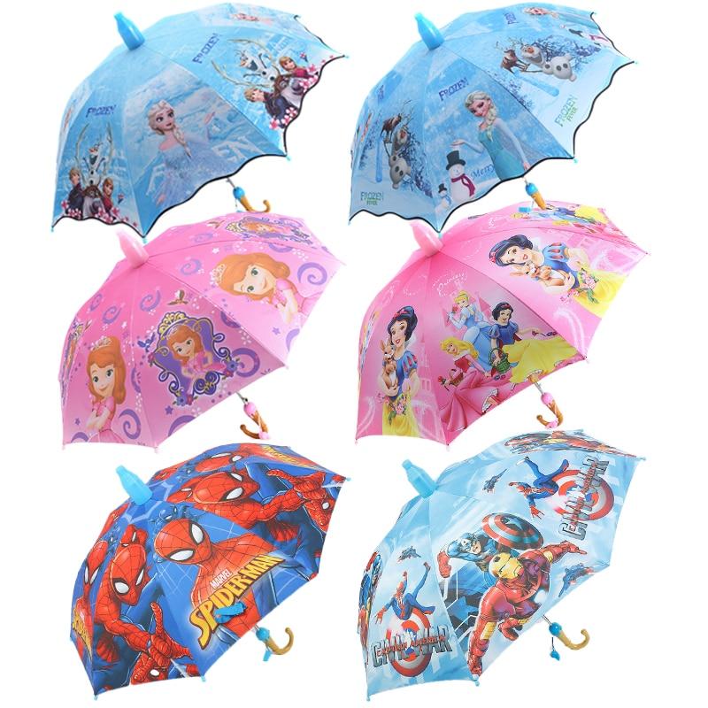 Disney congelado princesa sophia neve branco marvel herói série crianças guarda-chuva ultra-leve guarda-chuva automático para meninas e meninos