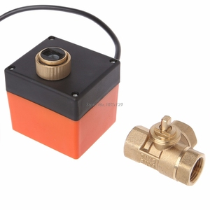 Image 2 - 3 طريقة صمام كروي مزود بمحرك كهربائي ثلاثة خط التحكم في اتجاهين التيار المتناوب 220 DN15/DN20/DN25 دروبشيب