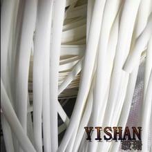 цены 70Meters(500g)  Width:8mm White Gradient Flat Synthetic Rattan Weaving Material Plastic Knit Repair Chair Table PE Rattan